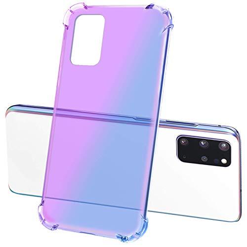 mtb more energy Case Gradient Protection per Samsung Galaxy A31 (SM-A315, 6.4'') - Viola/Blu - Rinforzo Antiurto - TPU Custodia Back Cover