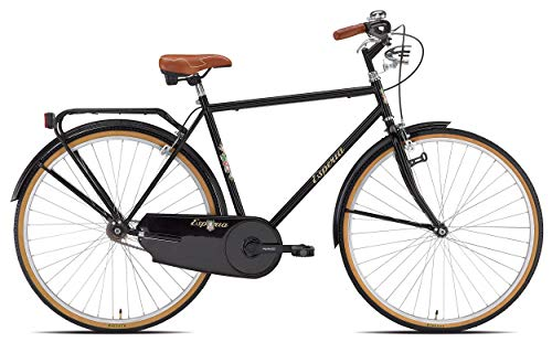 Esperia, Bicicletta da città, Uomo, Nero Retrò, 28