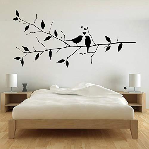 Vögel tak muur romantische slaapkamer decor vinyl muursticker voor woonkamer decoratie kunst 42 x 87 cm