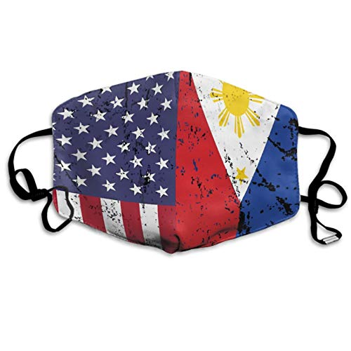 Men & Women Face Mask Balaclava Modern Fashion Mouth Cover For Running, Shopping, Travel Face Mask American Philippines Grunge Flag Cloth Masks