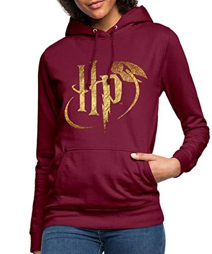 Harry Potter Logo Le Vif d'or Sweat À Capuche Femme, S, Bordeaux