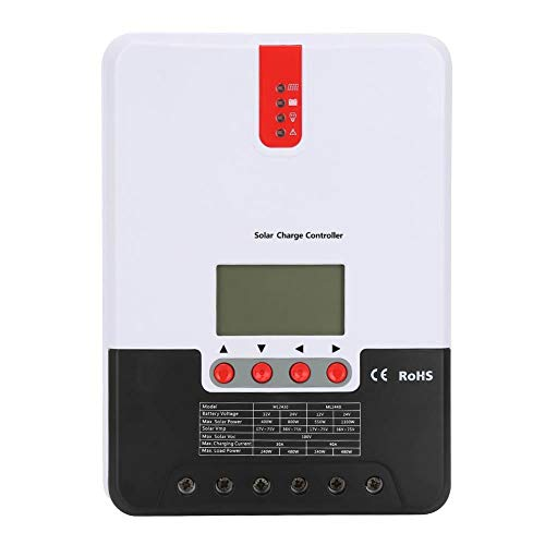 Controlador de carga solar con pantalla LCD Regulador de carga 12V 24V MPPT para paneles solares(40A ML2440)