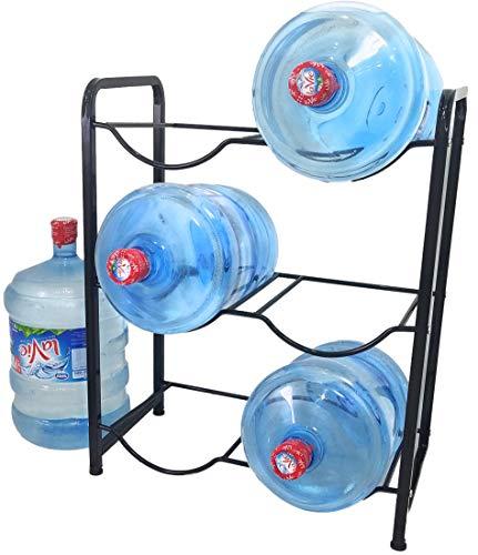 Stainless Steel 5 Gallon Water Bottle Glass Plastic Jug Rack Stand Holder Storage Shelf Drink Dispenser for Garage Kitchen Office Home The Original Brand