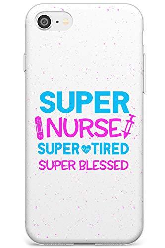 Medical Ispirato Super Nurse Slim Cover per iPhone 7 Plus TPU Protettivo Phone Leggero con Infermiera Assistenza Infermieristica Medico Medico
