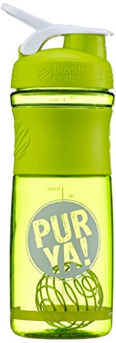 Purya Protein Shaker mit Blender-Ball, grün/weiß, 760ml