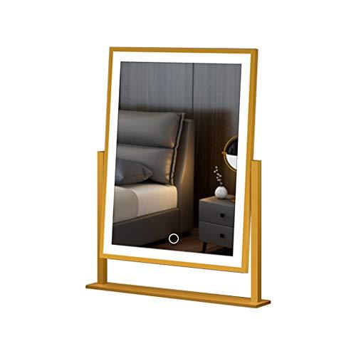 espejo de maquillaje con luz LED, tipo de consola táctil, espejo de...