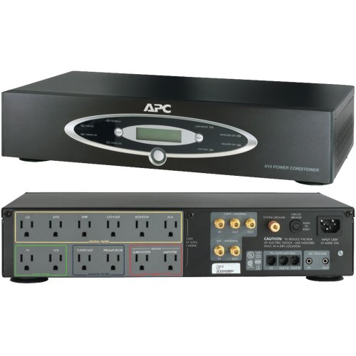 APC H15BLK 12-Outlet H-Type Rack-Mountable Power Conditioner Electronic Consumer