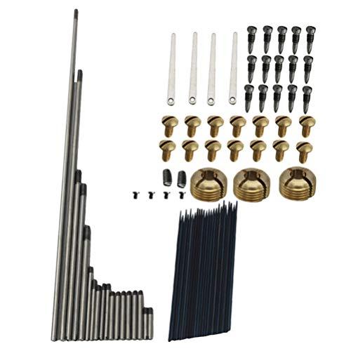 Exceart 1 Set Saxofoon Reparatiesets Multifunctionele Veer Naalden Reed Schroeven Sleutelassen Borgmoeren Reparatie Tool Voor Saxofoon