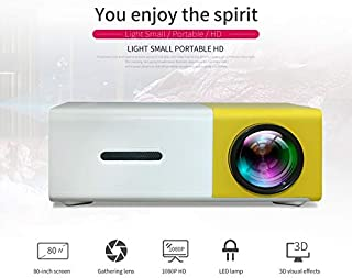 """Mini Projector - 400 Lumens Portable Video Projector 1080P Supported 60"""" Display, 50,000 Hours Led, Compatible with TV Sti..."""
