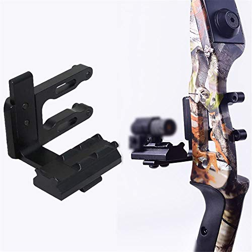 PA Archery CNC Bow Sight Scope Picatinny Bracket Mount Hunting Red Dot Sight Reflex Sight for Recurve Bow Compound Bow