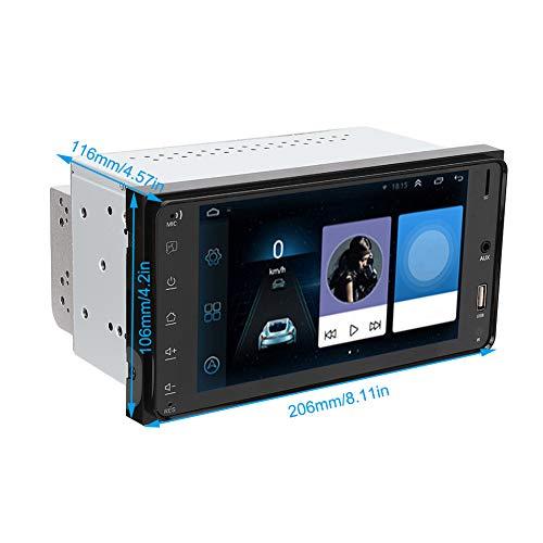 Reproductor de radio de automóvil, Radio de automóvil sin pérdida DIN MTK8127 ABS y soporte de aleación de aluminio Video de inversión para iOS One-Way