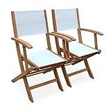 Alice's Garden Pareja de sillas de Mesa de jardín, Eucalipto, Natural