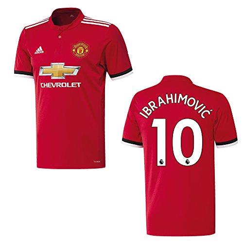 adidas Manchester United Trikot Home Kinder 2018 - Ibrahimovic 10, Größe:164