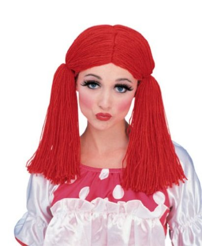 Rubie's Rag Doll Girl Wig, Red, One Size