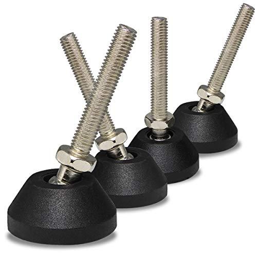 4er Verstellschraube M8x 50mm Schwerlast Stellschrauben Schwenkbar Regulierschraube für Tischbeine Möbelfüße