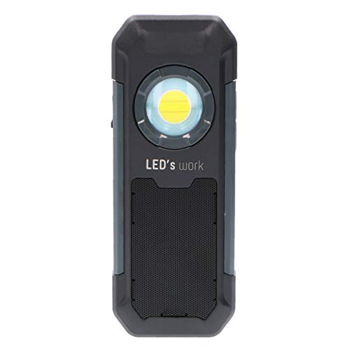 Linterna LED recargable 550 lm, IP54, IK07. Altavoz Bluetooth® 4.0 5W 4Ω....