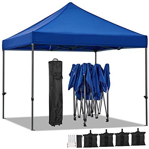 Yaheetech Carpa Plegable 3x3 Carpas para Exteriores Camping Cenador de Jardín Impermeable...