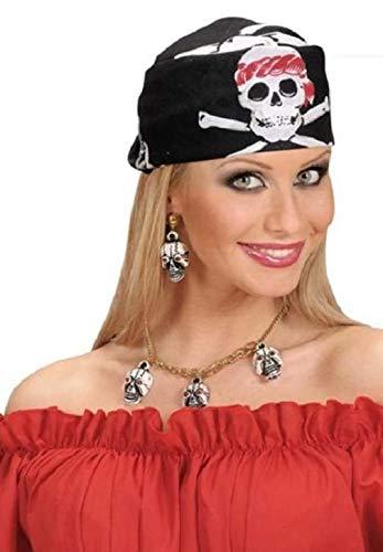 Unbekannt 2 x Bandana Kopftuch Fasching Karneval Fastnacht fürs Kostüm Seeräuber Totenkopf Pirat Piraten Tuch 55 x 55 cm