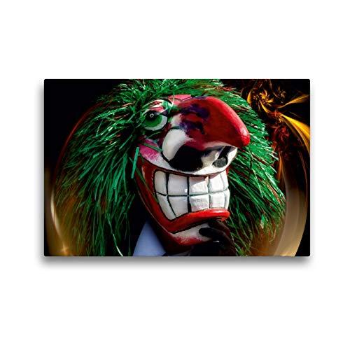 Premium Textil-Leinwand 45 x 30 cm Quer-Format Grüne Waggis | Wandbild, HD-Bild auf Keilrahmen, Fertigbild auf hochwertigem Vlies, Leinwanddruck von Alain Gaymard
