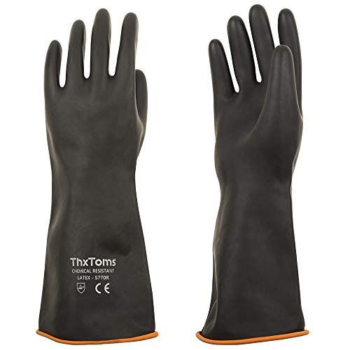 ThxToms Acid Resistant Heavy Duty Latex Gloves