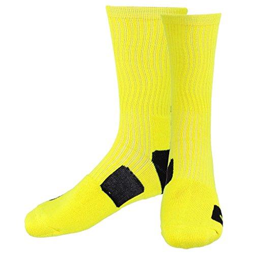 Calcetines largos amarillos para baloncesto