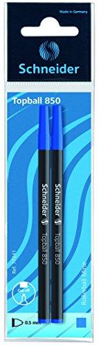 Schneider Schreibgeräte Tintenrollermine Topball 850, Euro-Format, 0,5 mm, blau, 2er SB-Beutel