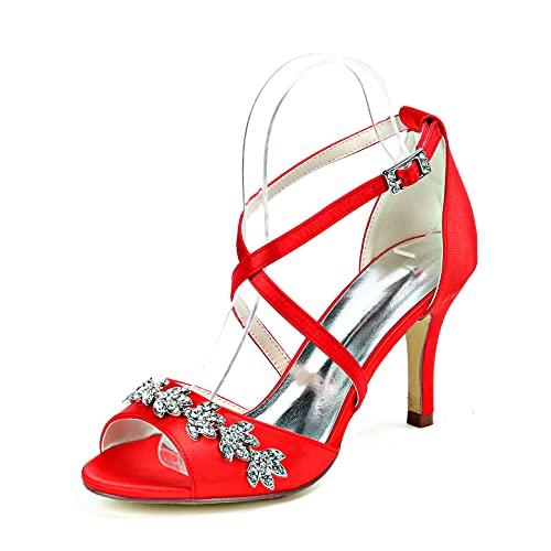 LGYKUMEG Zapatos de Tacones Altos para Mujer, Zapatos de Boda, Tacones Peep...