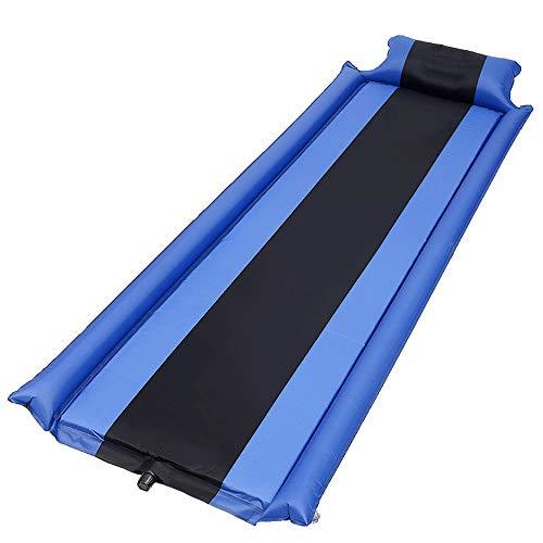 Vlook Isomatte, selbstaufblasende Isomatte mit Kissen, komfortabel und kompakt, leicht, feuchtigkeitsbeständig, für Wanderungen und Rucksacktouren