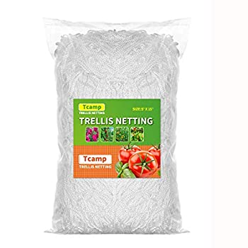 Tcamp Heavy-Duty Polyester Plant Trellis Netting 5 x 15ft  1 Pack   5 Ft X 15 Ft