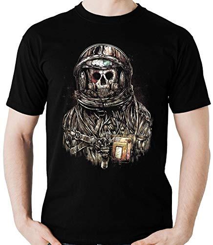 Camiseta Spaceman Astronauta Caveira Banda Rock