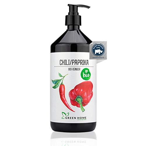 GREEN HOME LOVE NATURE®️ 1L Bio Chili/Paprika Dünger mit hohem Nährstoffgehalt - nachhaltiger Paprika Dünger einfach zu dosieren - Made in Germany