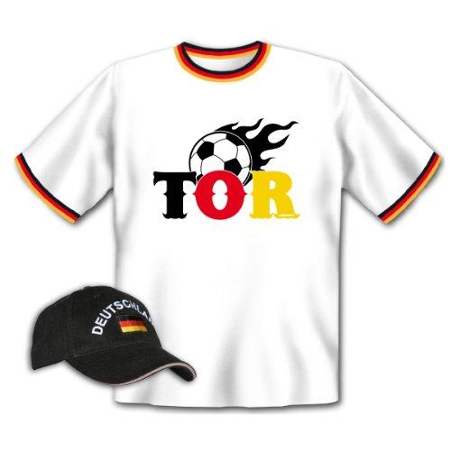 Tor T-Shirt + Cap für Fußball Fans