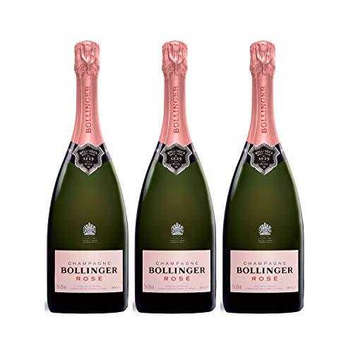 Champagne Brut Rosé - Bollinger - Rebsorte Chardonnay, Pinot Meunier, Pinot Noir - 3x75cl