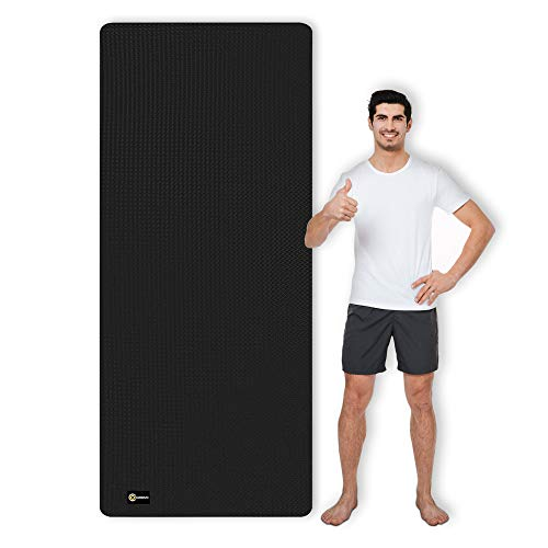 CAMBIVO Yogamatte, Gymnastikmatte extra lang(213cm x 81cm x 6mm), TPE...