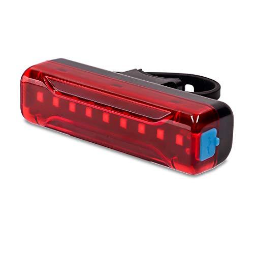 ALIOO Luz Bicicleta Trasera - Luz Trasera para Bicicleta Recargable USB,Capacidad de la Batería 1200mAh,IPX5 a Prueba de Agua,LED Faro Trasero Bici con 5 Modos - Rojo Luz Trasera,Seguridad Ciclismo