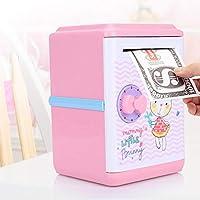 節約ポット、頑丈なABS素材の貯金箱、かわいい漫画のパターンの装飾が施された自動電気貯金箱、寝室の家のために(Bunny)