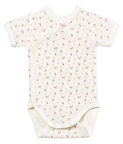 Petit Bateau Petit Bateau Baby - Mädchen Formender Body Naissance MC_4796601, Mehrfarbig (Marshmallow/Multico 01), 62 (Herstellergröße: 3M/60cm)