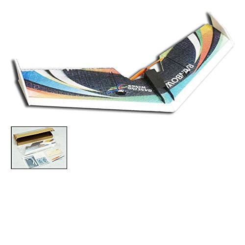 RC Airplane 3CH Radio Remote Controlled Electronic Aircraft EPP Plane Model 31' Delta Wing Rainbow Fly Wingspan 800mm KIT Tail-Pusher Version E0501