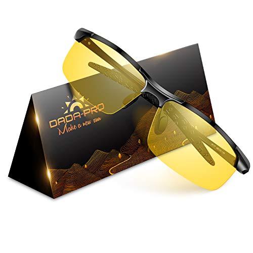 Nachtfahrbrille Auto Polarisiert Herren Damen Autofahren - HD Gelbe Anti Glanz Biker Nachtsichtbrillen Brille Gewidmet Nachtbrille(Schwarz)