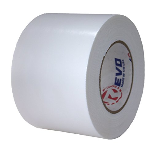 """REVO Preservation Tape/Heat Shrink Wrap Tape (4"""" x 60 Yards) Made in USA (White) Poly Tape - Electrical Tape - Boat Storage Tape (PINKED Edge) Single ROLL (Heavy Duty: 9 MIL Thickness)"""