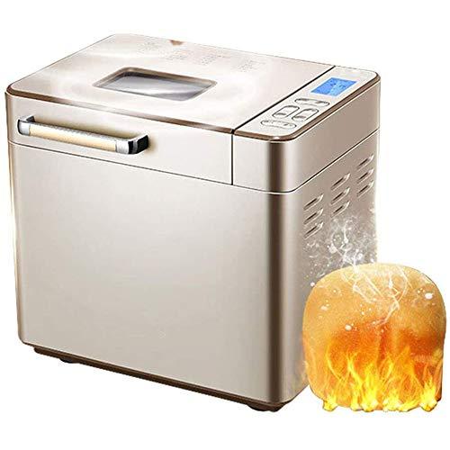 NOSSON Brotbackautomat Mit Zutatenspender, Automatische Brotbackmaschinen Multifunktionale Brotbackautomaten Frühstück Maschine Intelligente Termin Zeit, für Kuchen Brot Toast Dough