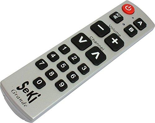 SeKi Grande - Telecomando universale con tasti grandi, per anziani e bambini