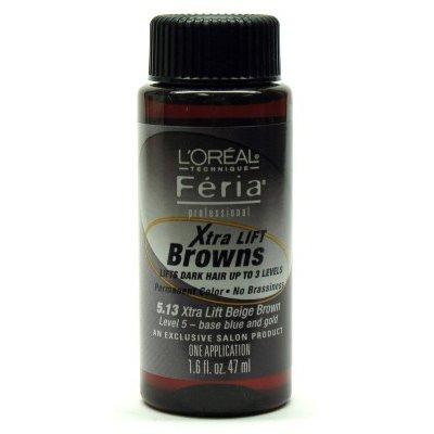 L'oreal Feria Pro Shimmering Multi-Tone Hair Color - #5.13 - Extra LiftBeige Brown 1.6 oz.
