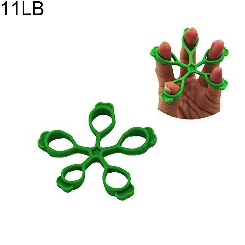 tianxiangjjeu vinger training artefact, 1 stks zacht licht groen siliconen vinger trekker vijf vinger Pull ring
