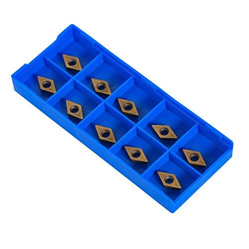 Juego de 10 puntas de fresado CNC en forma de diamante, cortador de inserción, cortador reversible, fresadora, fresadora, con caja DCMT070204-HM YBC251 para semisteel