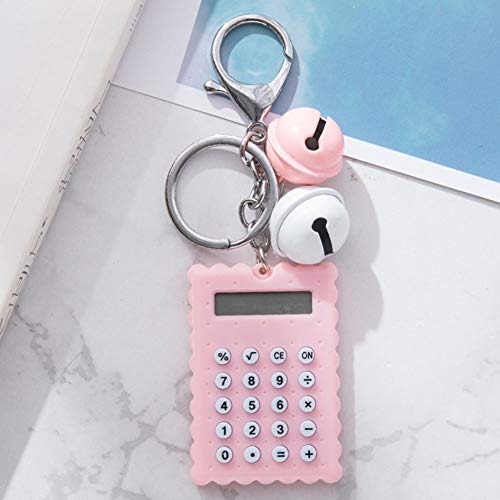 AMA-StarUK36 Taschenrechner in Keksform, mit Schnellverschluss, abnehmbare Schlüsselringe, Umweltfreundliche Materialien, rose