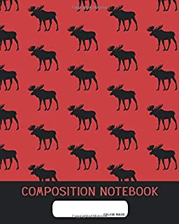 Composition Notebook: College Ruled | Mousse Red and Black | Back to School Composition Book for Teachers, Students, Kids and Teens | 120 Pages, 60 Sheets | 8 x 10 inches
