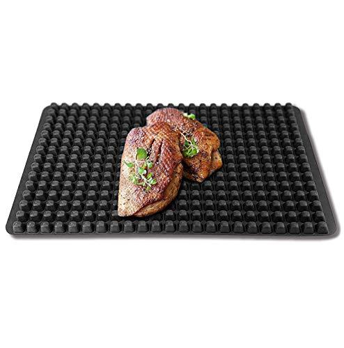 Coolinato siliconen bakmat, noppen, permanente bakfolie, vaatwasmachinebestendig 40 x 25 x 0,7 cm