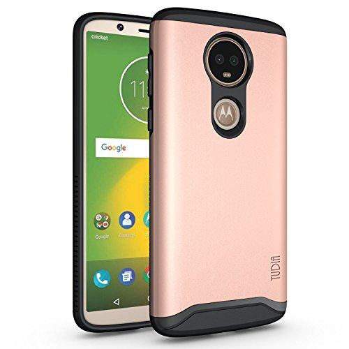 TUDIA Motorola Moto E5 Plus Hülle, Slim-Fit Merge Dual Layer Schutzhülle für Motorola Moto E5 Plus (Rose Gold)