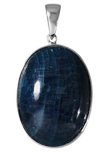 新宿銀の蔵 アパタイト シルバー 925 ペンダントトップ オーバル型 天然石 パワーストーン 青 シンプル ヘッド 燐灰石 トップ